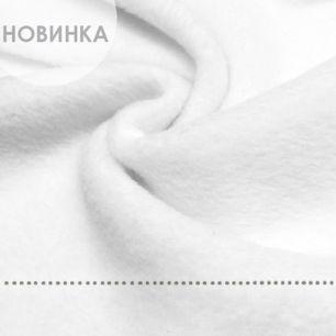 Флис двусторонний, цвет - белый