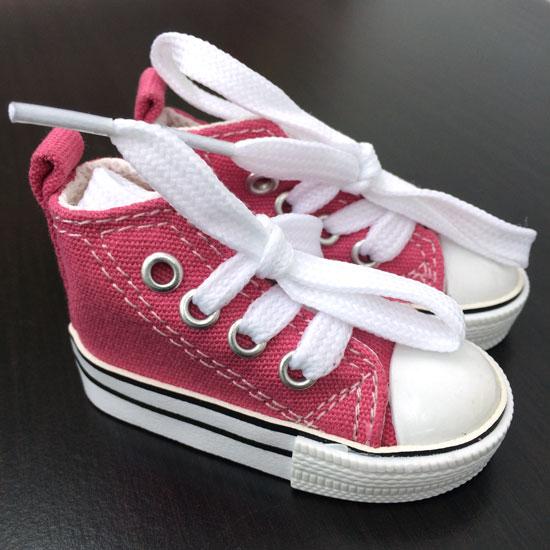 Обувь для кукол Тильда - 7.5 см розовые кеды