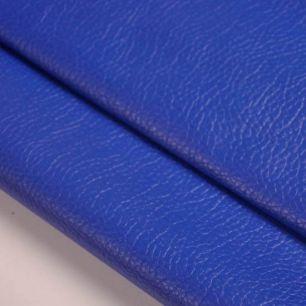 Кожзам для кукольных ботиночек - синий, 25*23 см