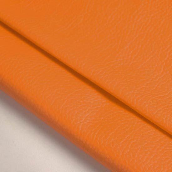 Кожзам для кукольных ботиночек - оранжевый, 25*23 см