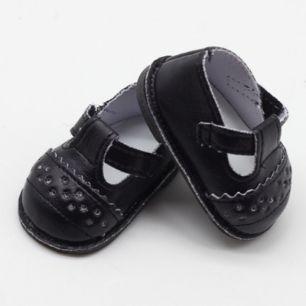 Обувь для кукол - сандалики черные